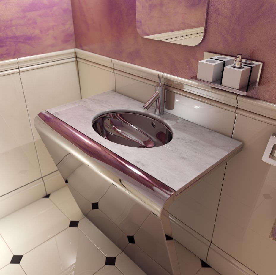 lavabo sobre encimera rectangular de mrmol moderno top marmomarble carrara
