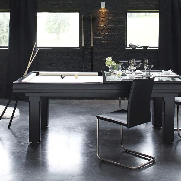 Mesa de billar moderna / convertible en mesa de comedor / para el ...