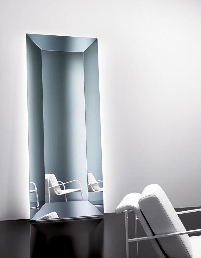 espejo de pared de pie moderno rectangular denver sovet