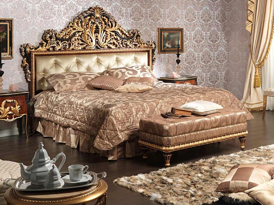Cama estándar / de matrimonio / de estilo Luis XV / de madera ...