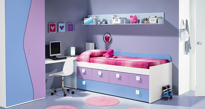 cama estndar moderna de madera con cajones nardi