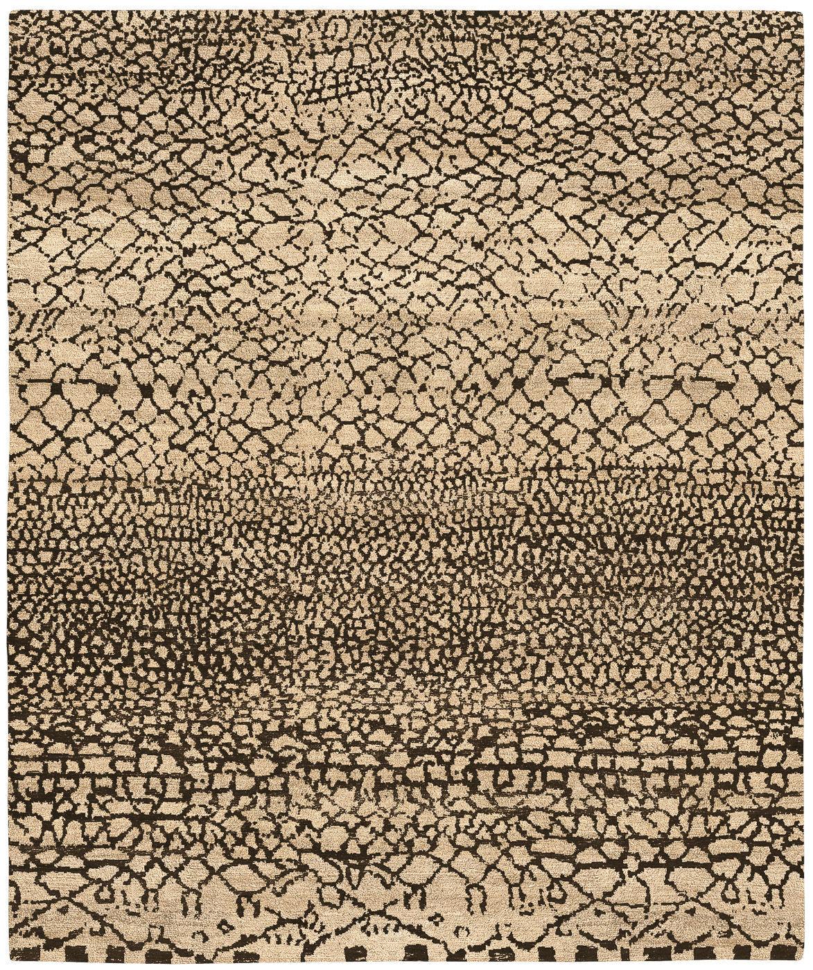 alfombra moderna con motivos de lana rectangular gamba tourouk jan kath