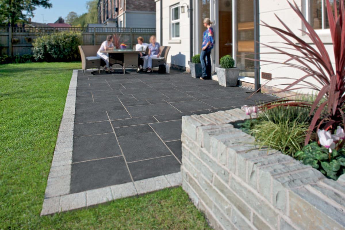 baldosa de exterior para jardn para pavimento de piedra caliza fairstone riven