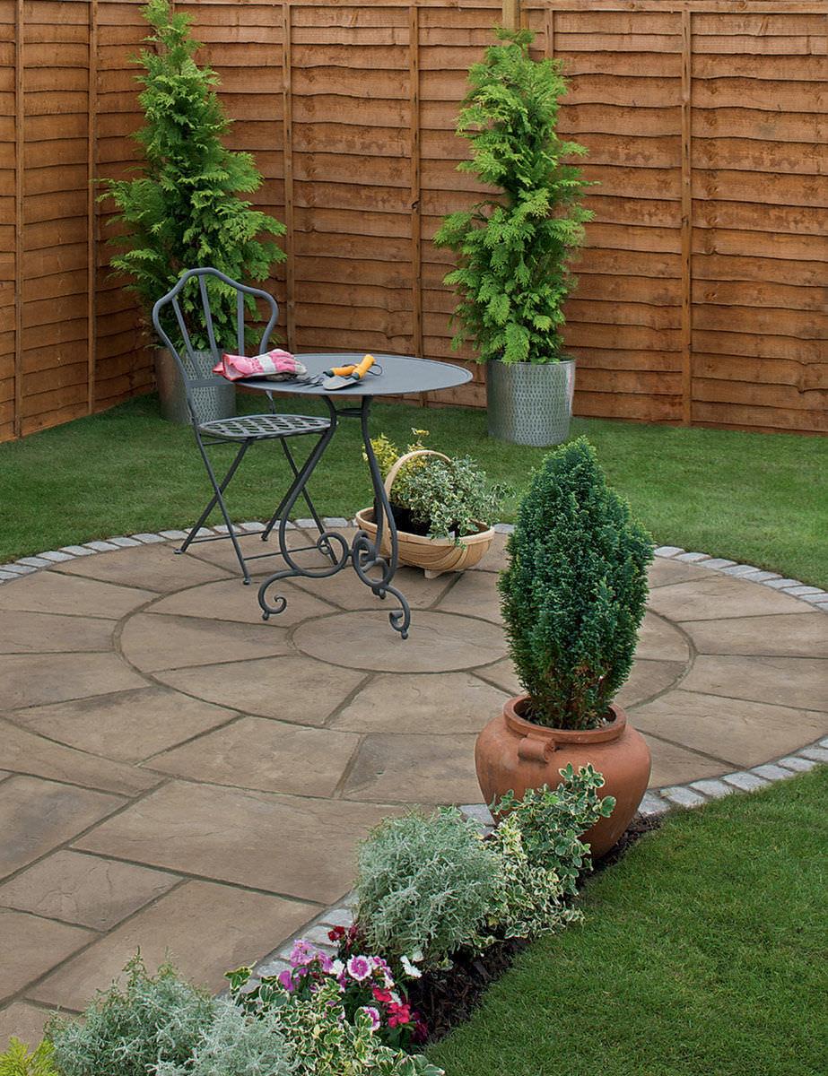 Baldosa de exterior / de jardín / para pavimento / de piedra ...