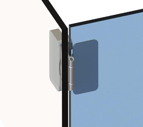 bisagra para puerta de cristal acero bo
