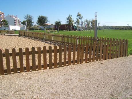 valla de jardn con barrotes de madera park fence carmo