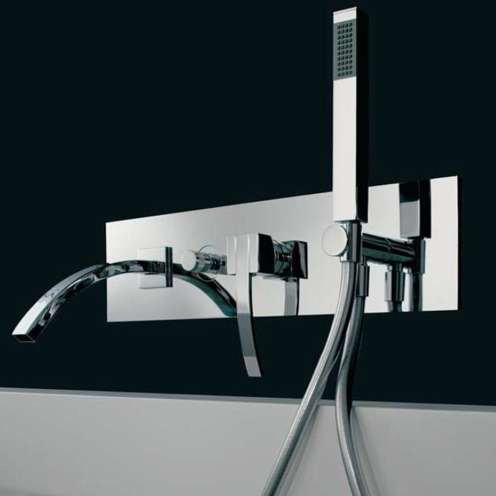 Grifo monomando para bañera / de pared / de metal cromado / de baño ...
