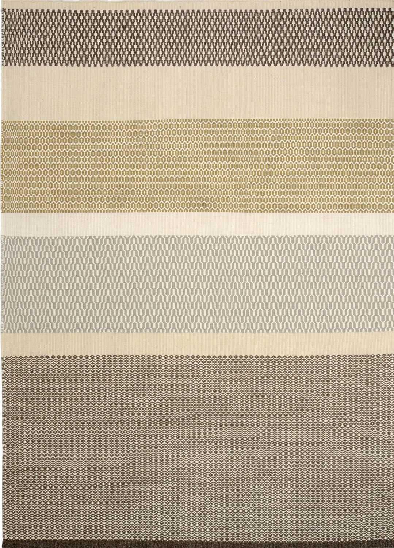 alfombra moderna de rayas de seda rectangular khadi - Alfombra Moderna