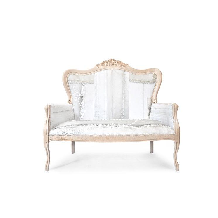 Sofá clásico / madera / de tejido / 2 plazas - SHABBY CHIC - Mineheart