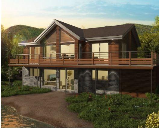 Casa Prefabricada Moderna De Madera De 2 Plantas Scandinave