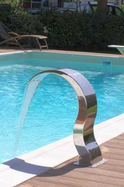 cascada para piscina armonia inoxstyle