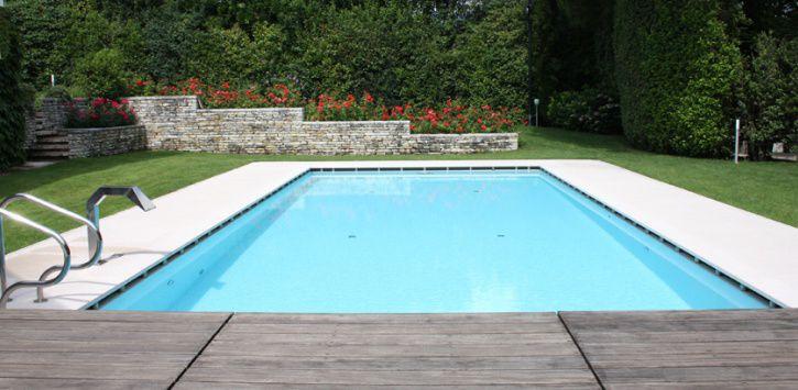 baldosa para playa de piscina de suelo de piedra natural de rayas lapitec