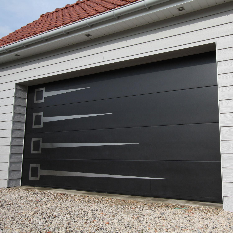 Puerta de garaje seccional / de madera / de aluminio / automática ...