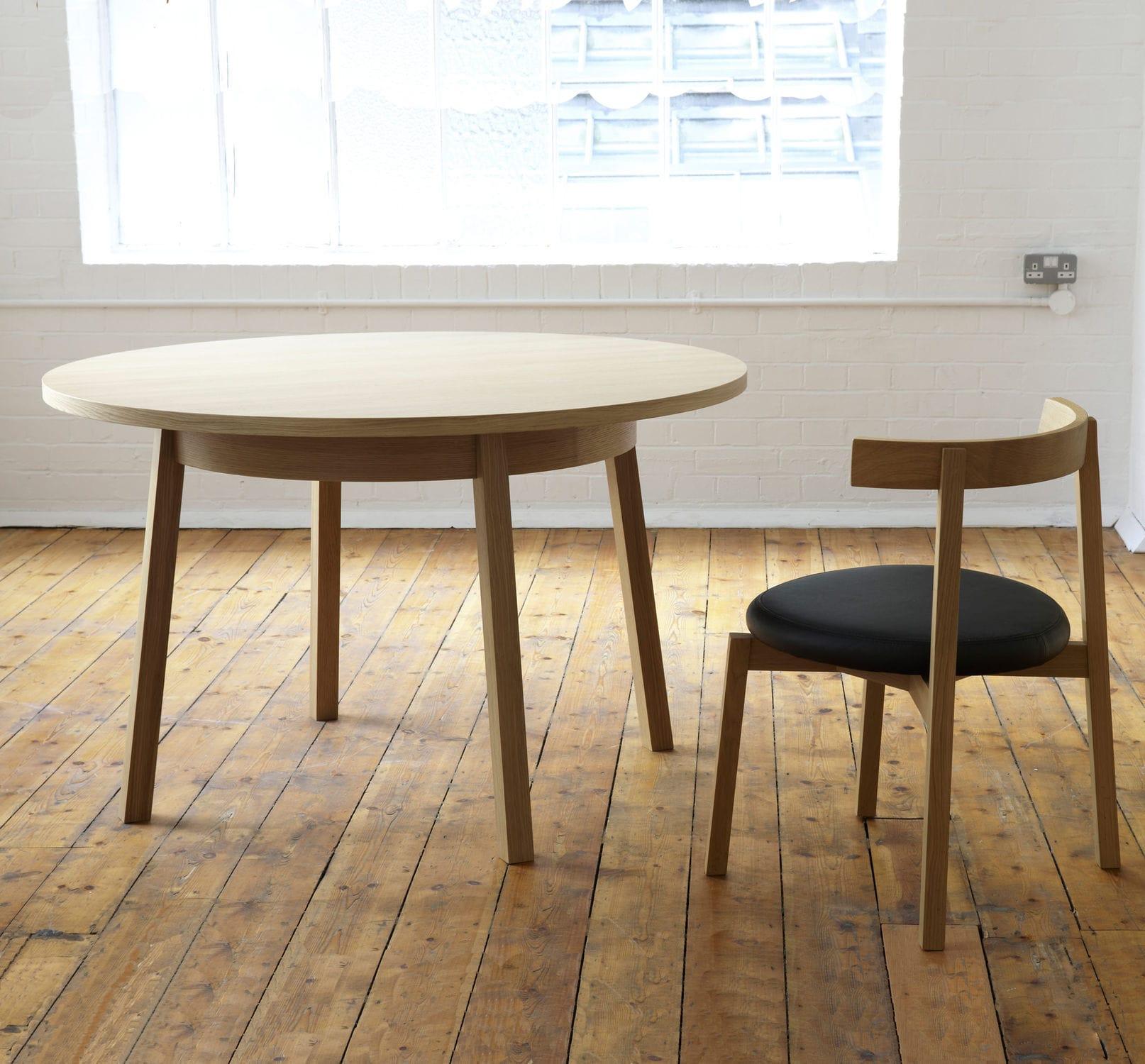 Mesa de edor moderna de madera redonda para restaurante