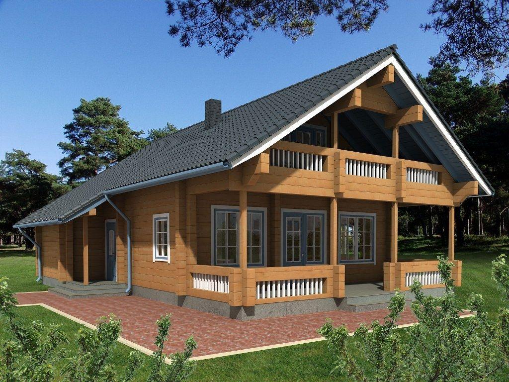 Casa Prefabricada De Madera Maciza Apilada Moderna Con Armazon