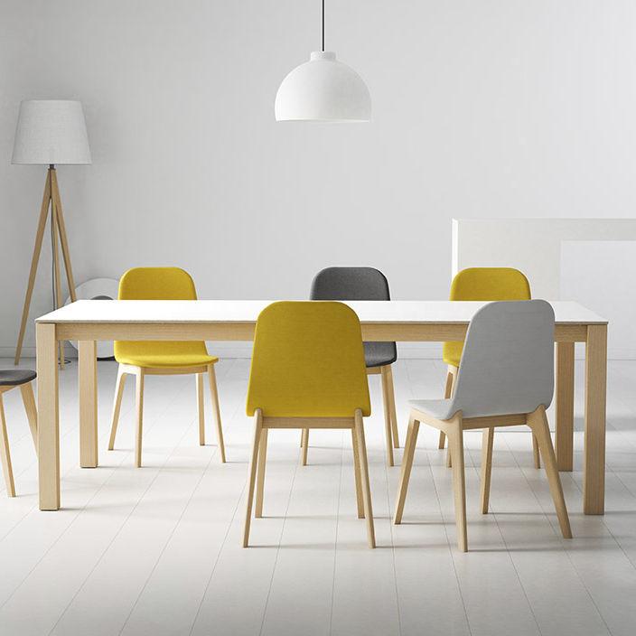 Mesa de comedor moderna / de madera / cuadrada / extensible - QUADRA ...