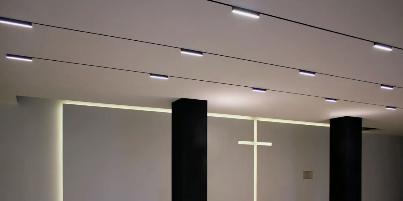Illuminazione a binario a led powrgard
