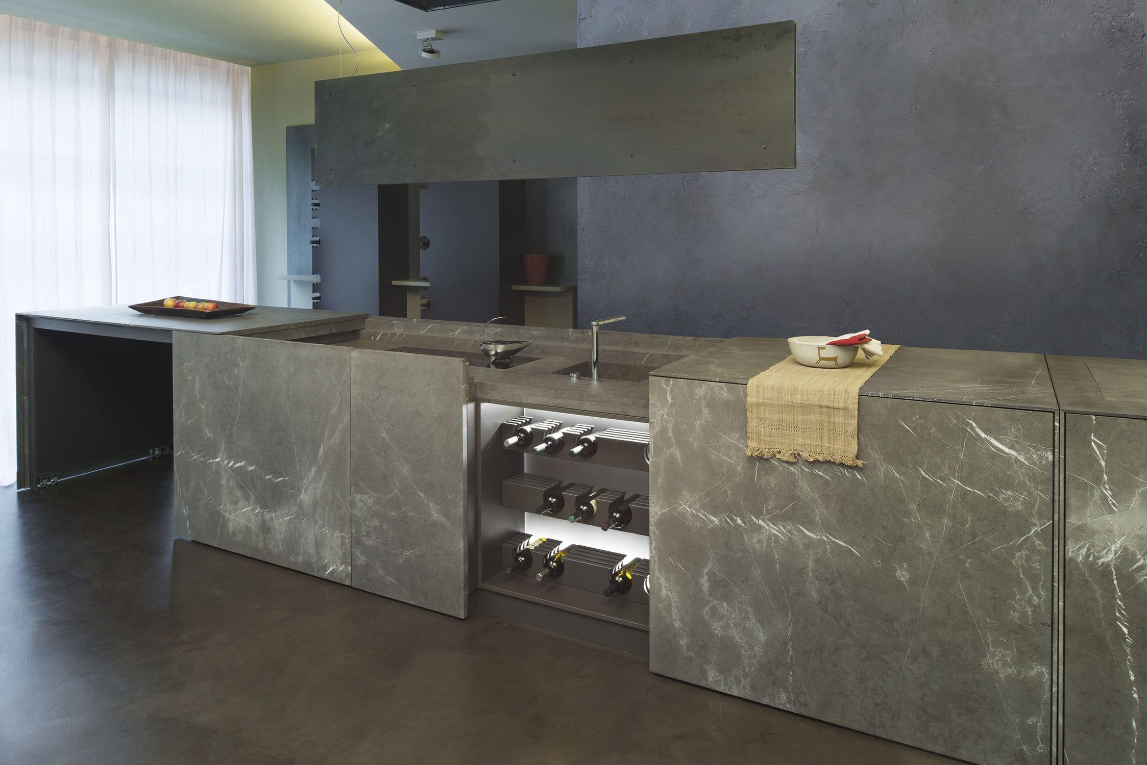 Cocina moderna / de piedra / con isla - 20141002 – CUCINA MONOBLOCCO ...