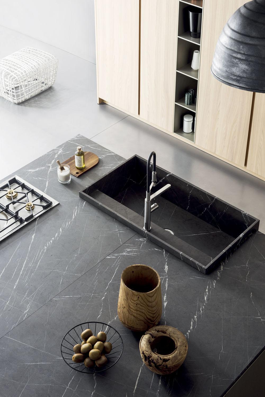 Cocina moderna / de piedra / con isla / modular - T45 - TM Italia