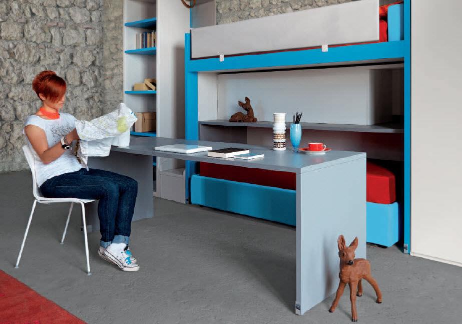 escritorio de material laminado moderno con cama nido para nios cool