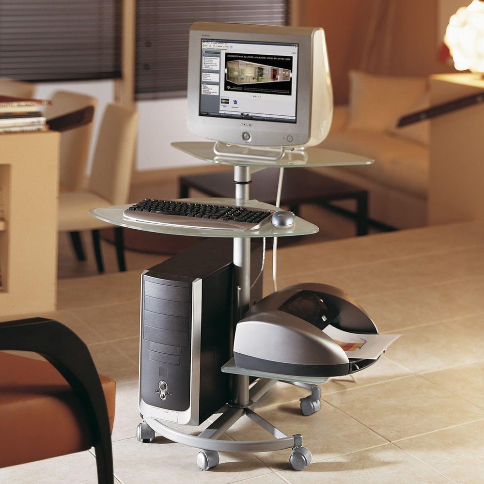 Mesas De Ordenador Para Salon.Mesa De Ordenador Moderna Redonda Para El Sector Servicios