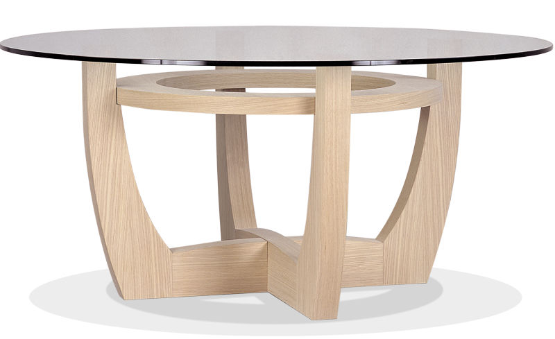 mesa moderna de vidrio redonda