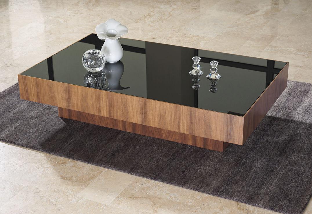 mesa de centro moderna de madera rectangular de interior square crystal
