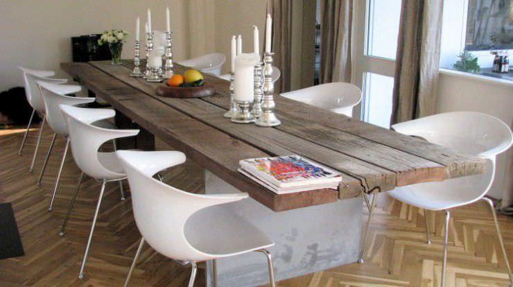 Mesa de comedor moderna / de madera / de acero / ovalada - GAIA ...