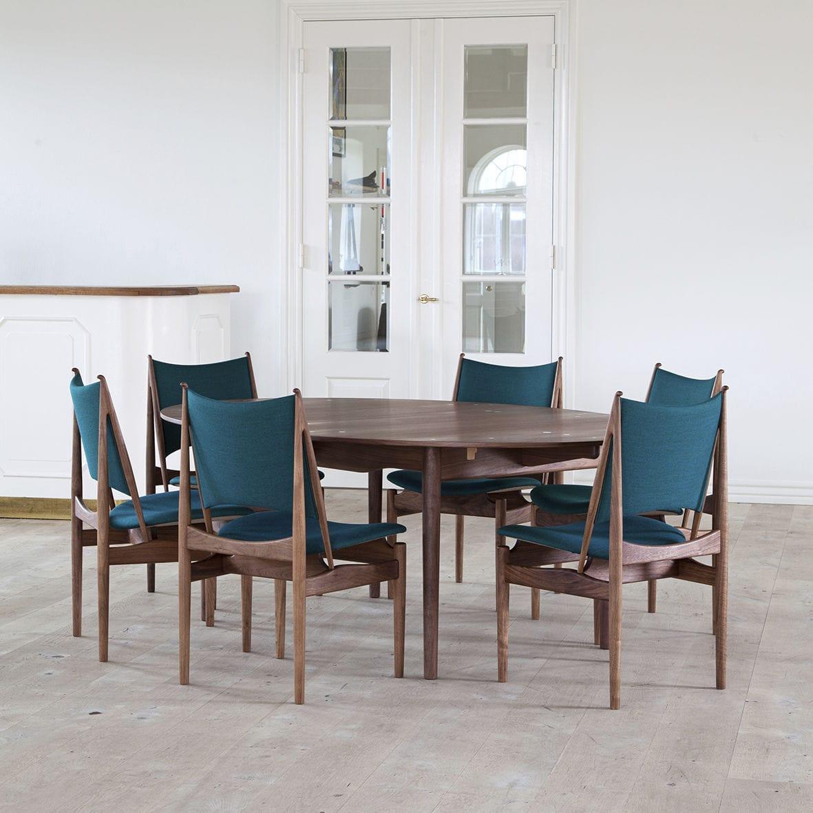 mesa de comedor de diseo escandinavo de roble de nogal de teca silver