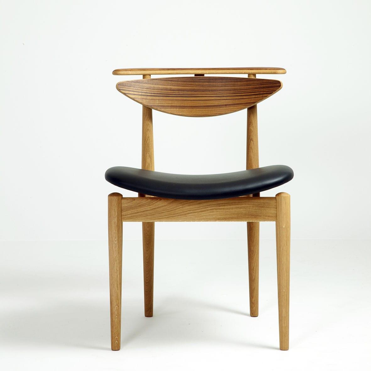 silla de comedor de diseo escandinavo de roble de nogal de tela reading