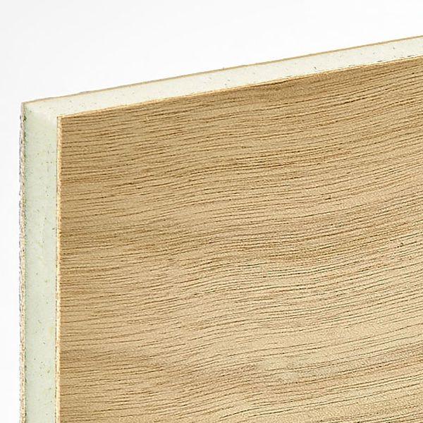 Panel sándwich para interiores / para falso techo / cara de madera ...