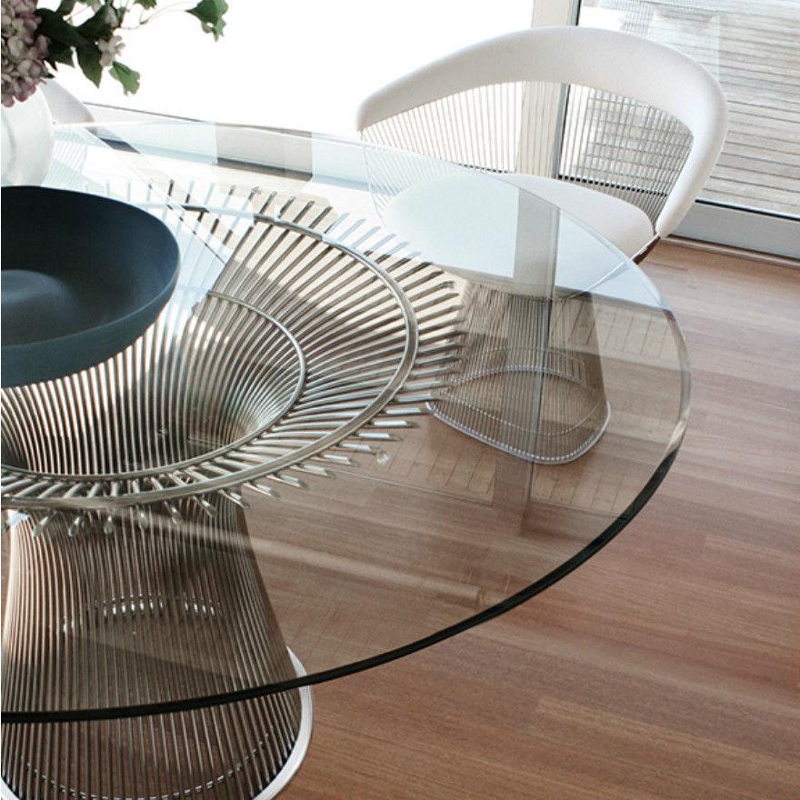 Mesa de comedor / moderna / de vidrio / de acero   knoll international