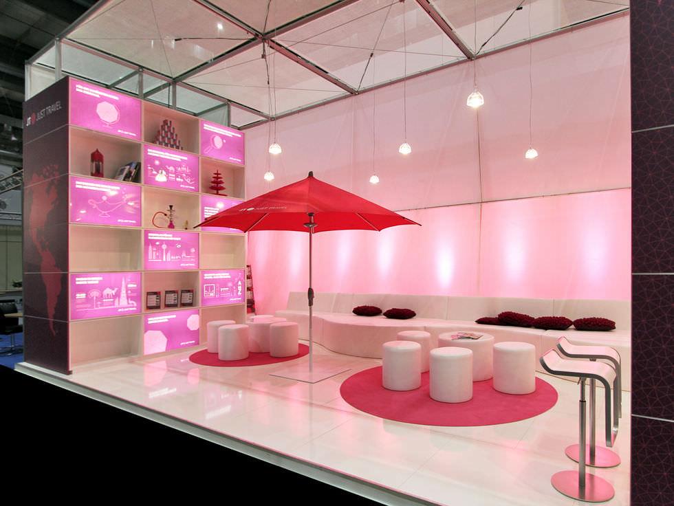iluminacion para stand exposiciones
