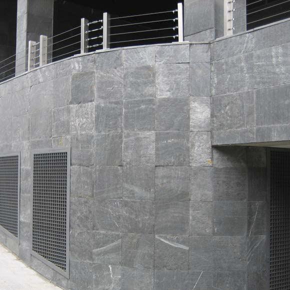 Placa de piedra de pizarra / para pavimento / para fachada / mural ...