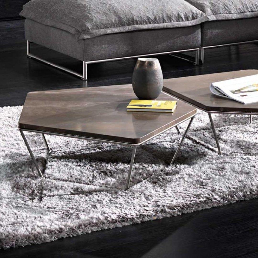 Mesa de centro moderna / de madera / de acero / de mármol - CHOCOLAT ...