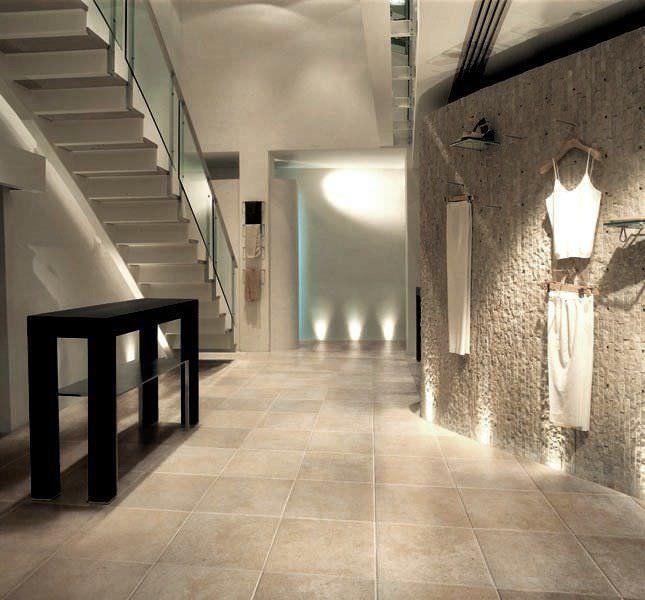 baldosa de exterior de suelo de piedra natural de color liso limestone pergamena natural cleft and honed surface