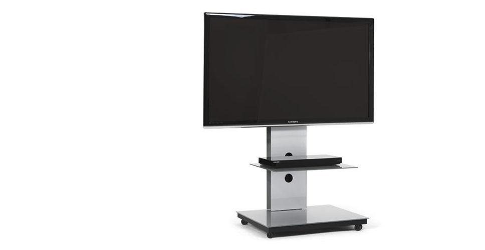 Soporte para TV de pie moderno de vidrio TRAY Spectral Audio