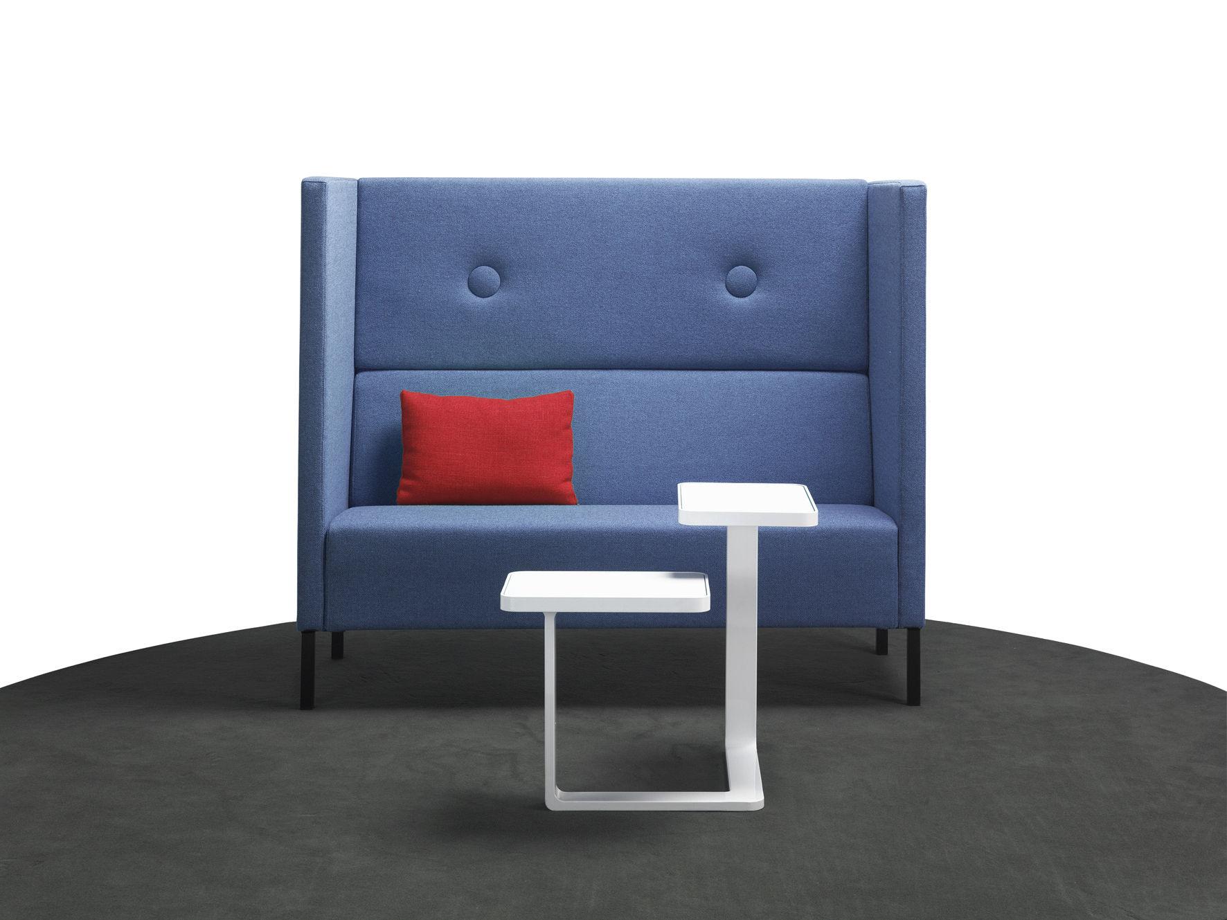 sof de esquina moderno de tela para oficina abierta mute by joel karlsson