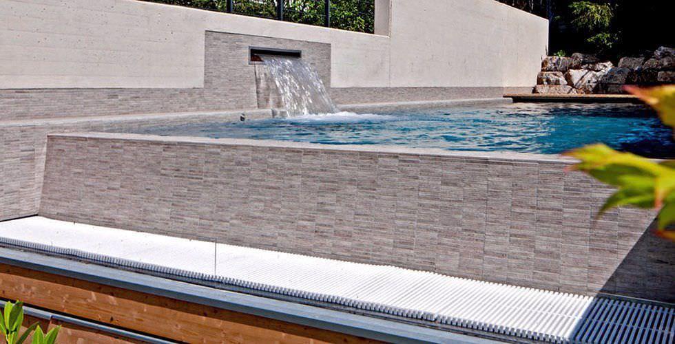 cascada para piscina edilfare piscine