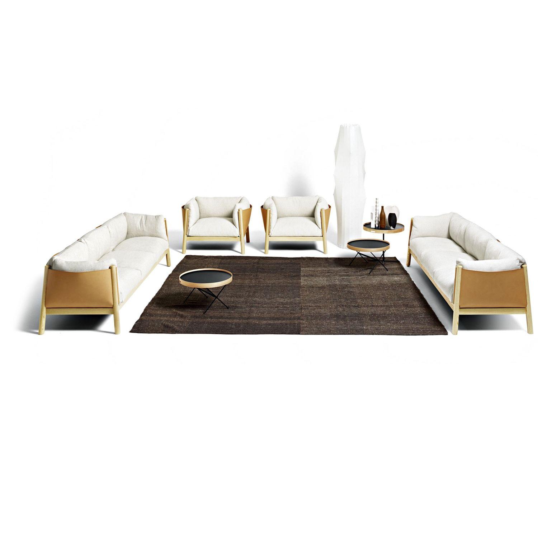 Sofá moderno / de cuero / de madera / 2 plazas - YAK by Lucidi ...