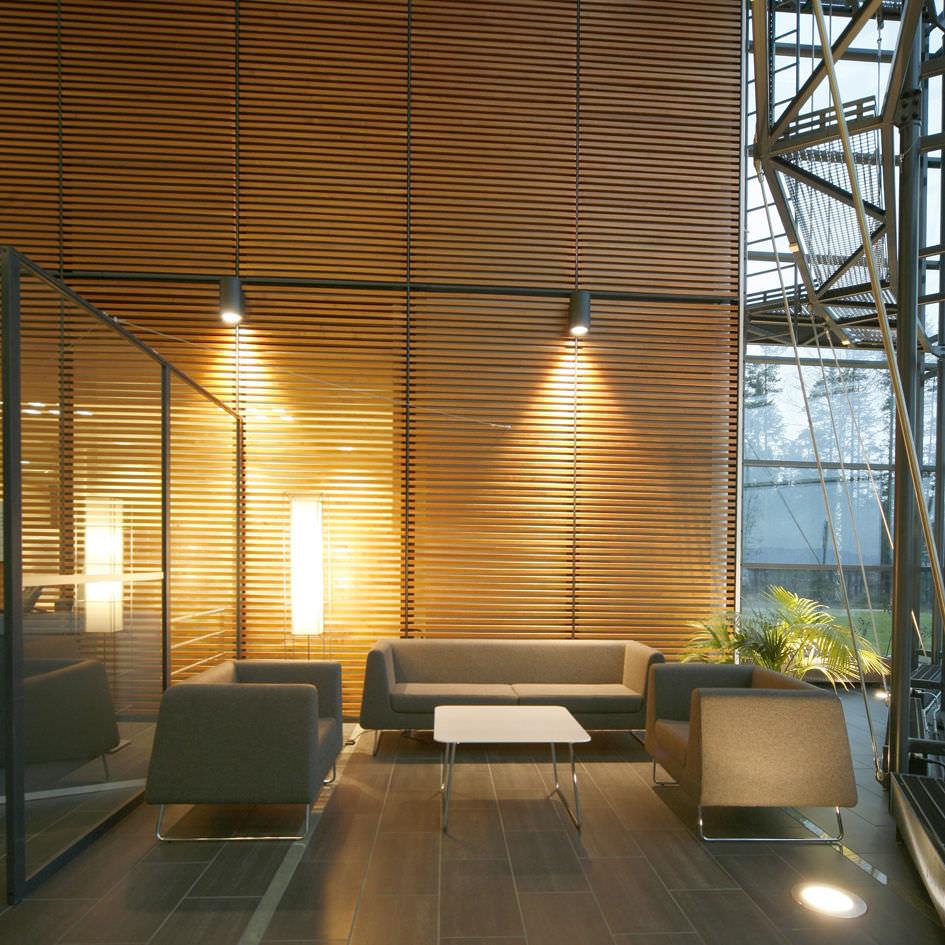 sof moderno de tela para edificio pblico plazas jarman by steinar hindenes