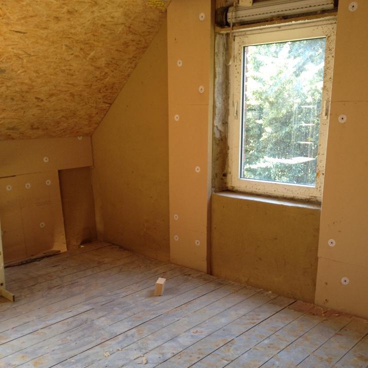 Aislante termoacústico / de fibra de madera / para interior / de ...