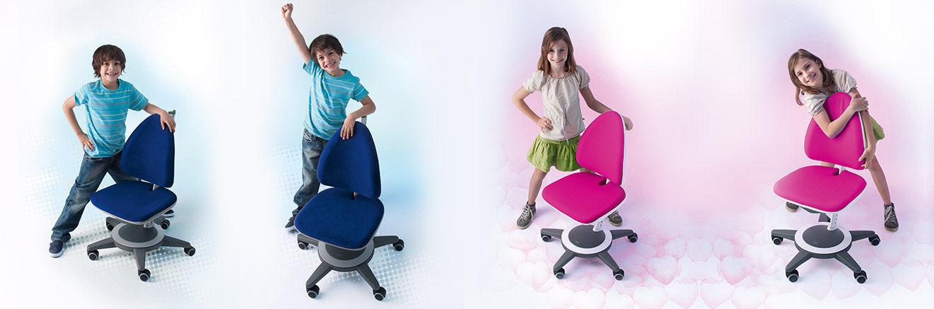 Silla de oficina moderna / con ruedas / con patas en forma de ...