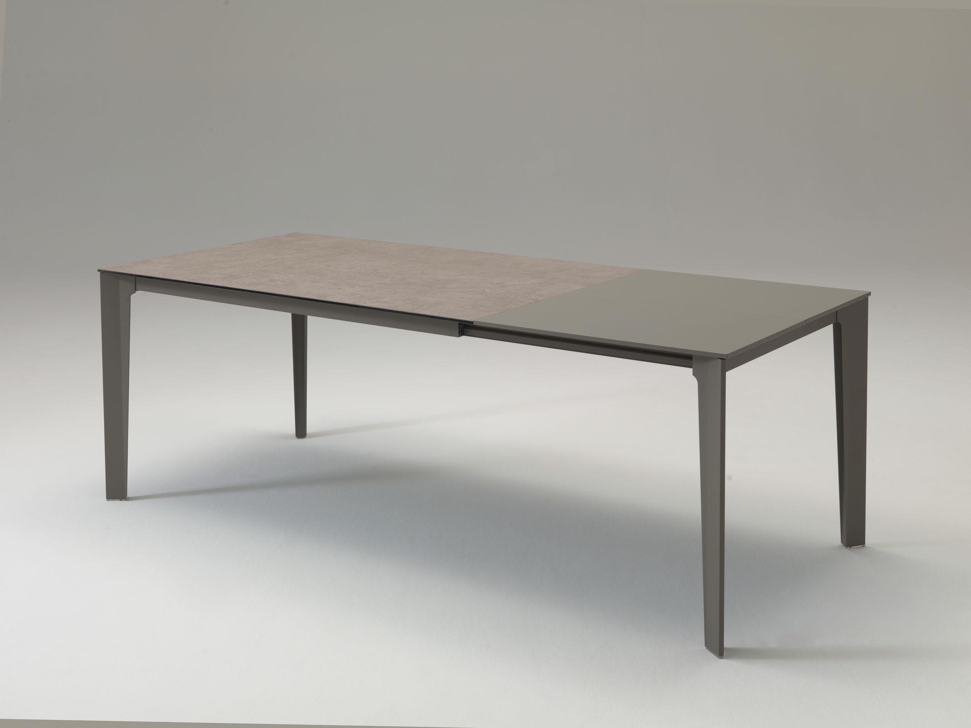 Mesa de comedor moderna / de madera / de metal / rectangular - T233 ...