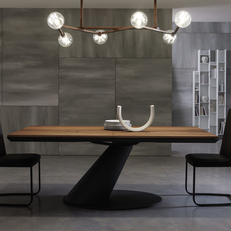 Mesa de comedor moderna / de madera / de metal / rectangular - THOR ...
