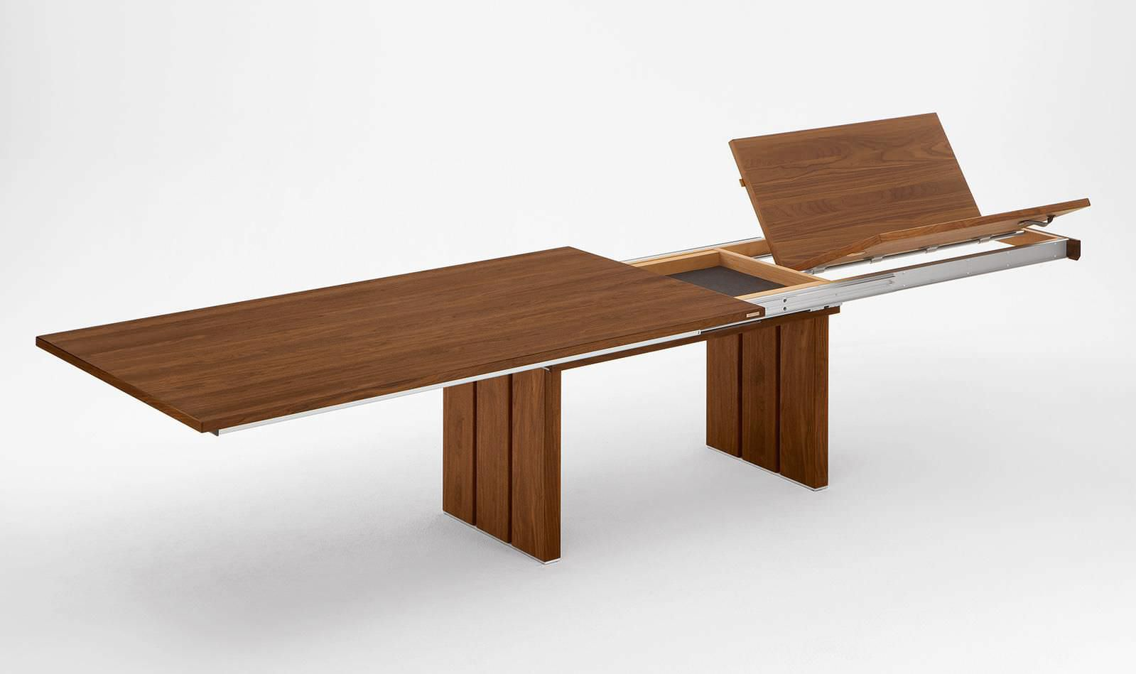 Mesa de comedor moderna / de madera / rectangular / extensible ...