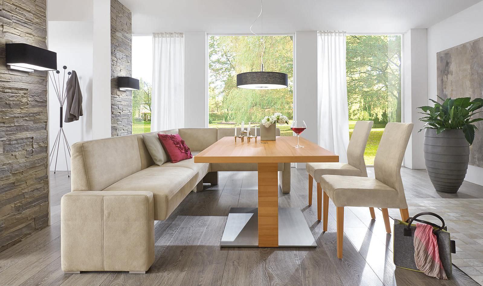 Mesa de comedor moderna / de madera / rectangular / ajustable en ...