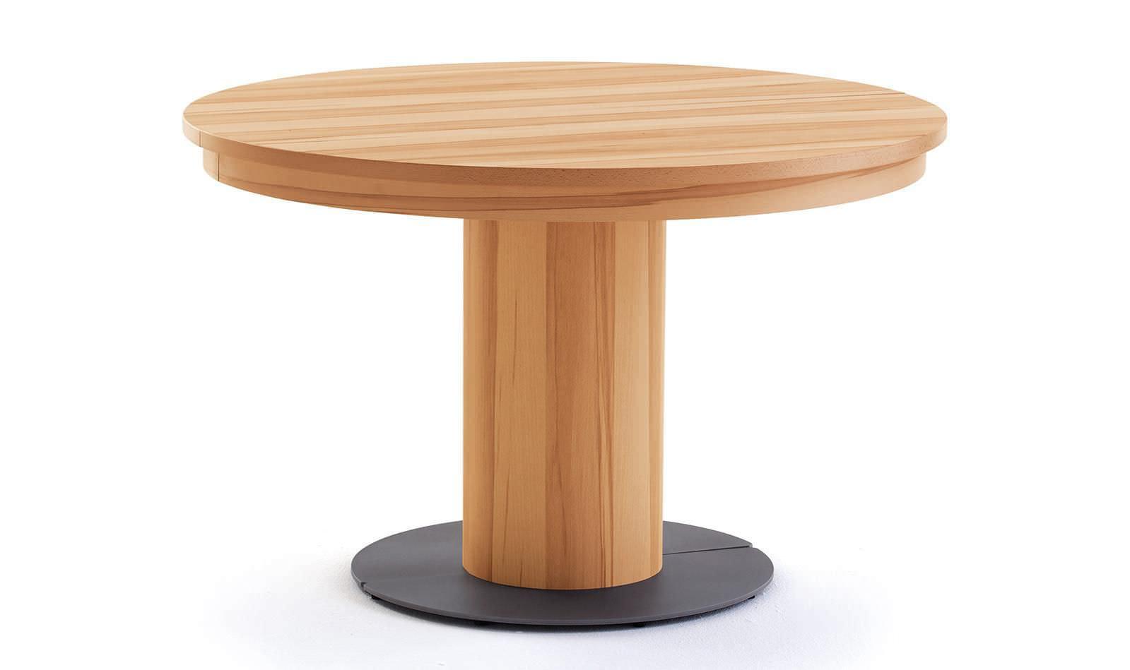 mesa de comedor moderna de madera redonda de interior et558 alfons venjakob gmbh