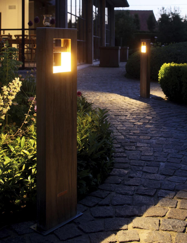 bolardo de iluminacin para jardn moderno de metal led log royal botania