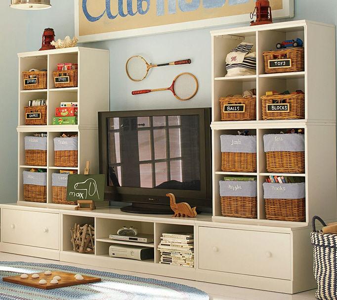 Mueble TV moderno / para niños - CAMERON EXTRA-WIDE - Pottery Barn Kids